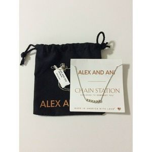 Alex and Ani Station Sliding Bead 925 Necklace